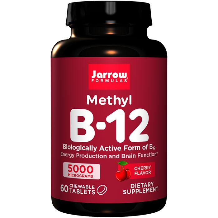 Methyl B-12, Methylcobalamin 5000 mcg 60 lozenges, Jarrow Formulas