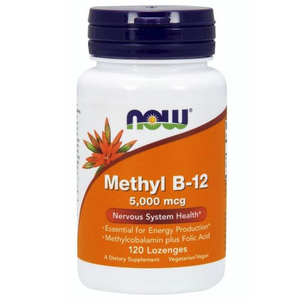 Methyl B-12 5000 mcg, 120 Lozenges, NOW Foods