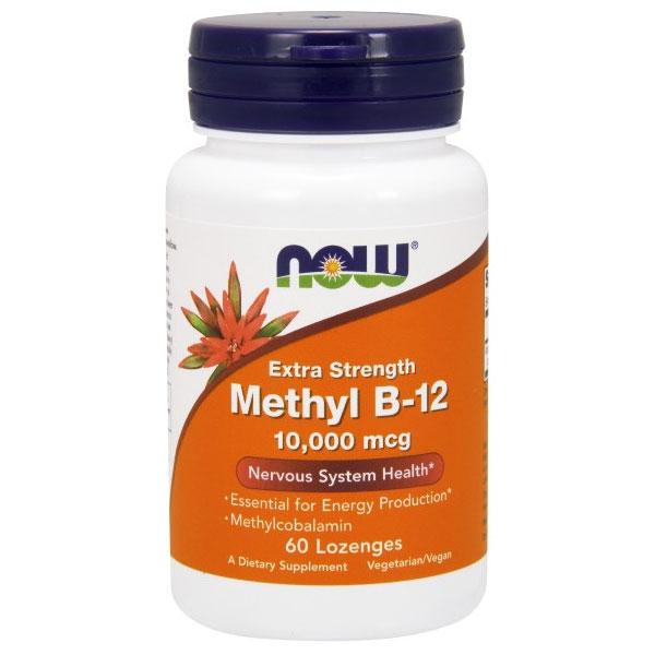 Methyl B-12 10,000 mcg, 60 Lozenges, NOW Foods