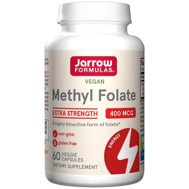 Methyl Folate 400 mcg, 60 Capsules, Jarrow Formulas