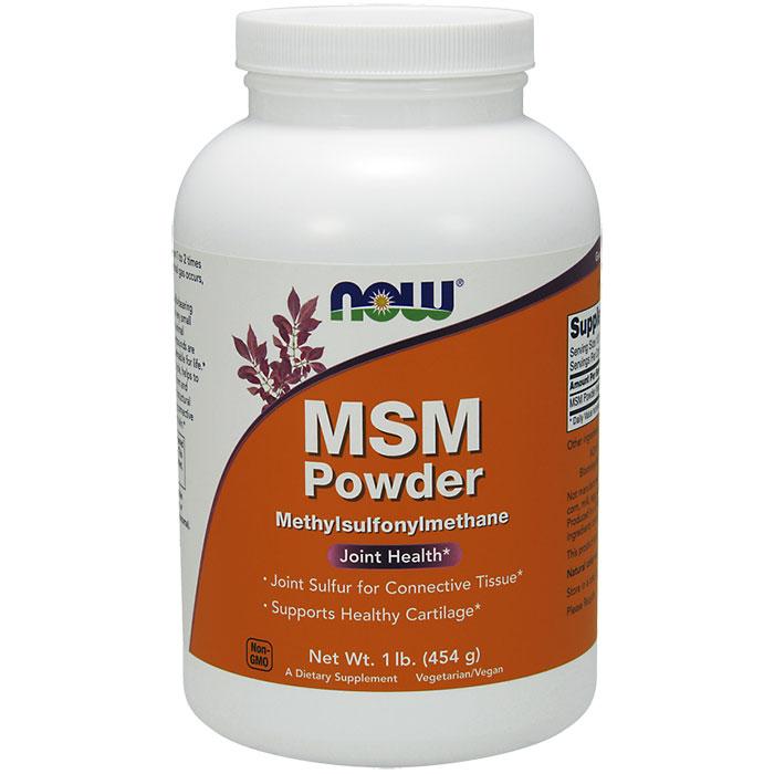 MSM Powder, Methylsulphonylmethane Pure Powder 1 lb, NOW Foods