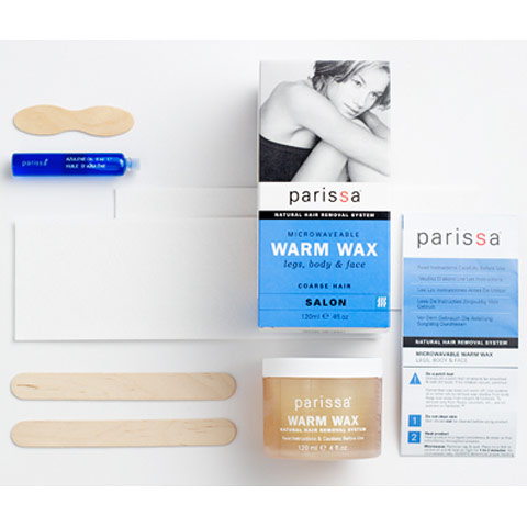 Microwaveable Warm Wax Hair Removal, 1 Kit (4 oz), Parissa Natural Hair Removal System