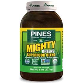 Mighty Greens Superfood Blend Powder, 8 oz, Pines International