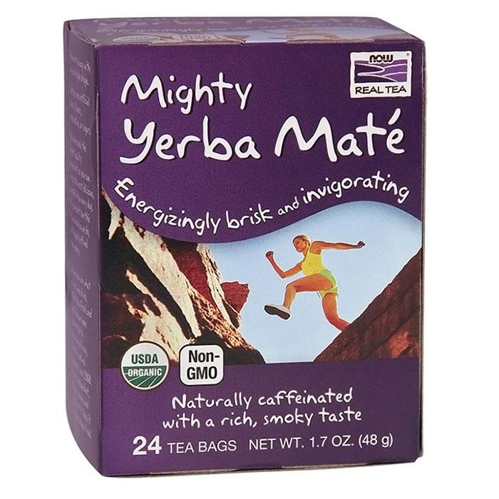 Mighty Yerba Mate Tea, Organic, 24 Tea Bags, NOW Foods
