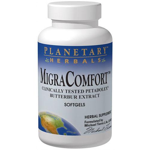 Migra Comfort 50mg Butterbur, 30 Softgels, Planetary Herbals