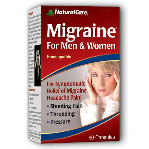 Image of Migraine Relief (Fast Migraine Pain Relief) 60 caps from NaturalCare