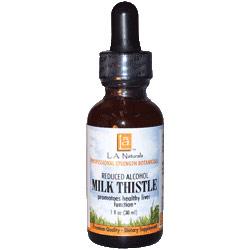 Milk Thistle Organic, 1 oz, L.A. Naturals