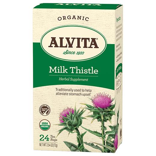 Milk Thistle Tea Organic, 24 Tea Bags, Alvita Tea