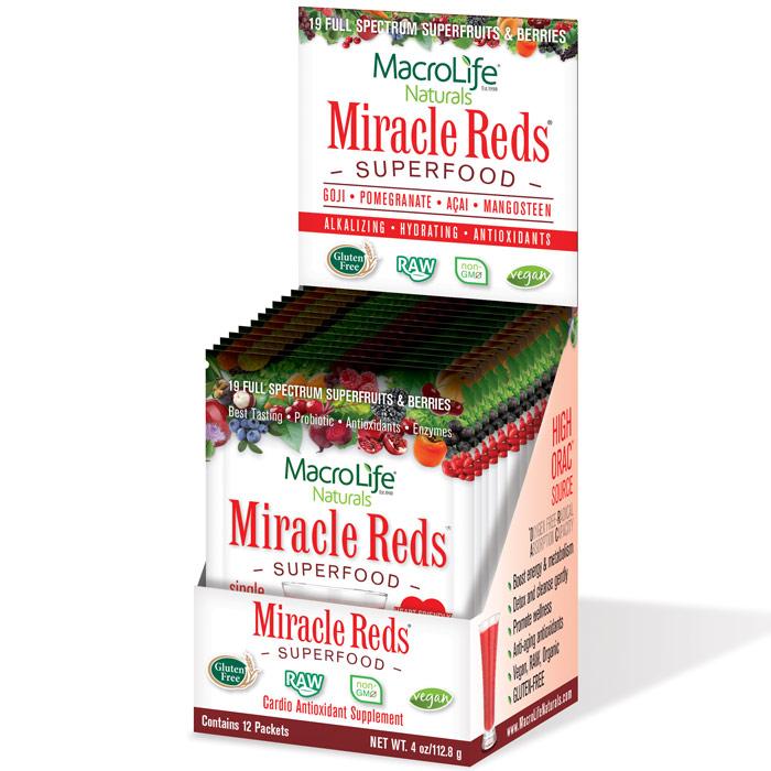 Miracle Reds 12 packets (12 day supply), MacroLife Naturals