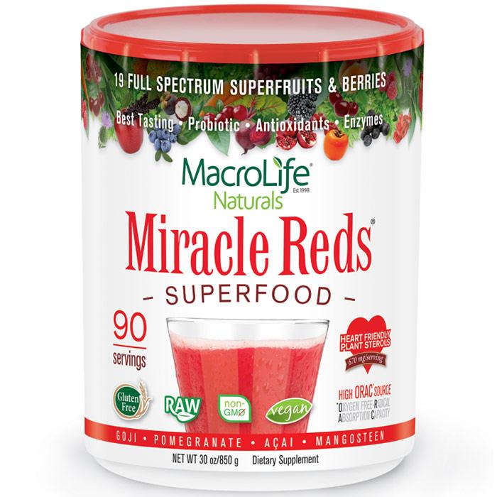 Miracle Reds 30 oz powder (three month supply), MacroLife Naturals