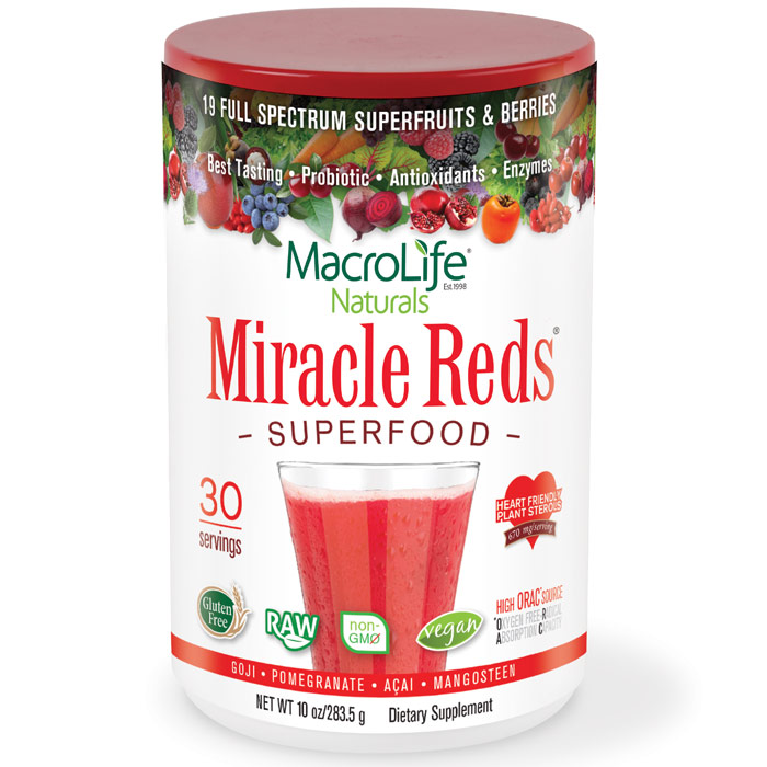 Miracle Reds 10 Oz Powder One Month Supply Macrolife