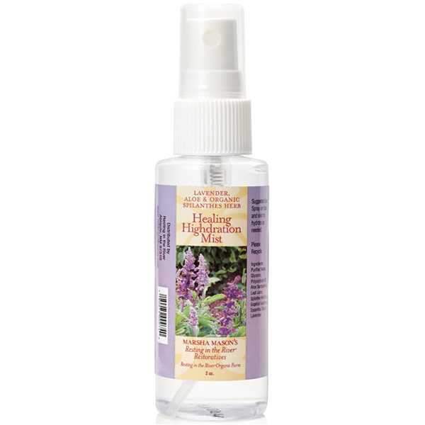 Healing Highdration Mist - Lavender, Aloe & Organic Spilanthes Herb, 2 oz, Marsha Masons Resting In The River Natural Products