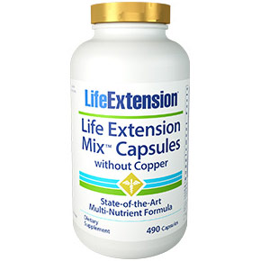 Mix Capsules without Copper, Multi-Nutrient Formula, 490 Capsules, Life Extension