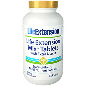 Mix Tablets with Extra Niacin, Multi-Nutrient Formula, 315 Tablets, Life Extension