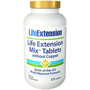 Mix Tablets without Copper, Multi-Nutrient Formula, 315 Tablets, Life Extension