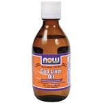 Molecular Distilled Cod Liver Oil Liquid Lemon Flavored, 7 oz, NOW Foods