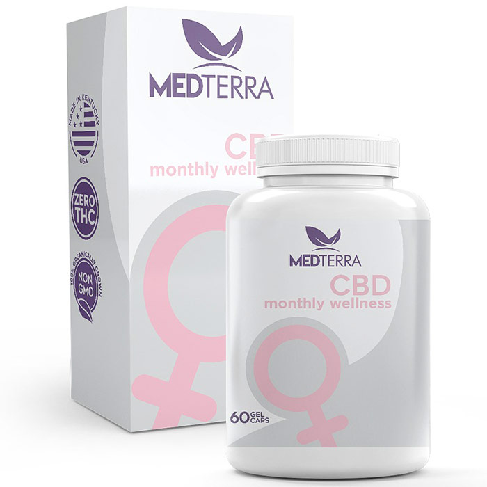 Women's Monthly Wellness, CBD 25 mg, 60 Gel Caps, Medterra