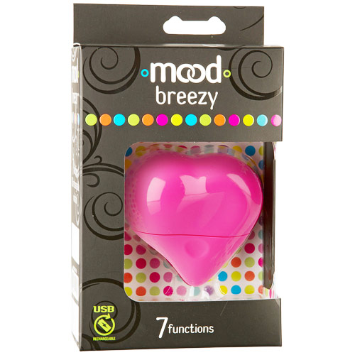 Mood Breezy 7 Functions Massager Vibrator, Pink, Doc Johnson