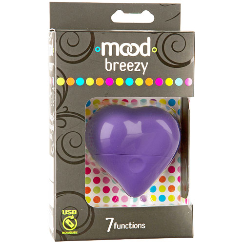 Mood Breezy 7 Functions Massager Vibrator, Purple, Doc Johnson