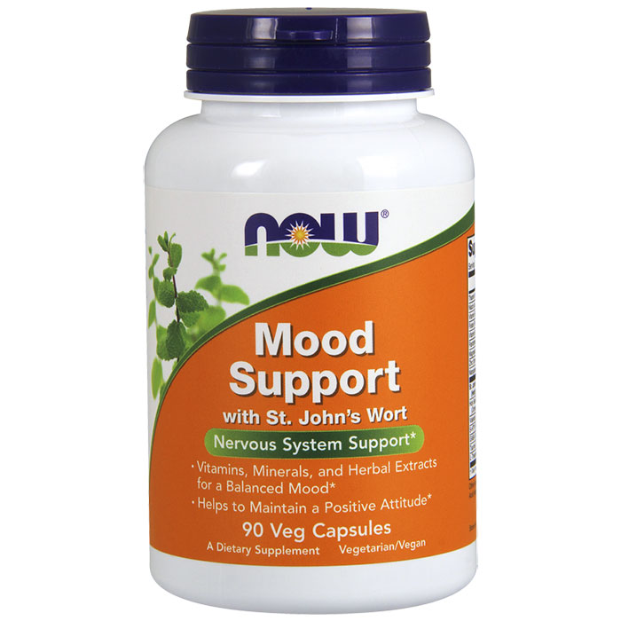 Mood Support, Nervous System Support, 90 Vegetarian Capsules, NOW Foods