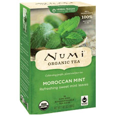 Moraccan Mint Tea, Herbal Teasan, 18 Tea Bags, Numi Tea