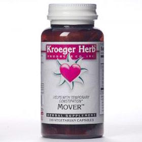 Mover, Constipation Formula, 100 Vegetarian Capsules, Kroeger Herb