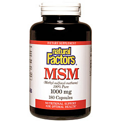 Buy MSM 1000mg 180 Capsules, Natural Factors