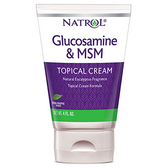 Glucosamine & MSM Topical Cream, 4 oz, Natrol
