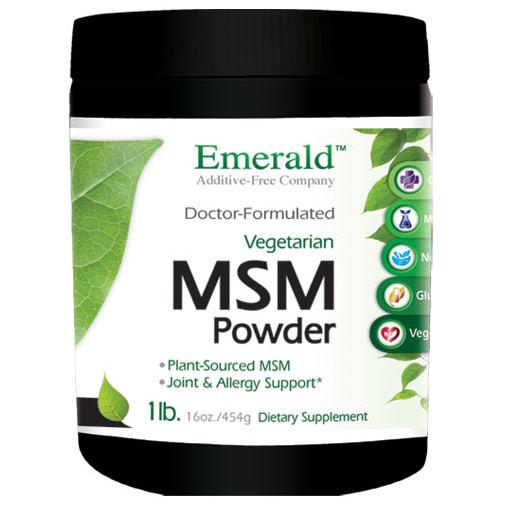 MSM Powder 4000 mg, 16 oz, Emerald Labs