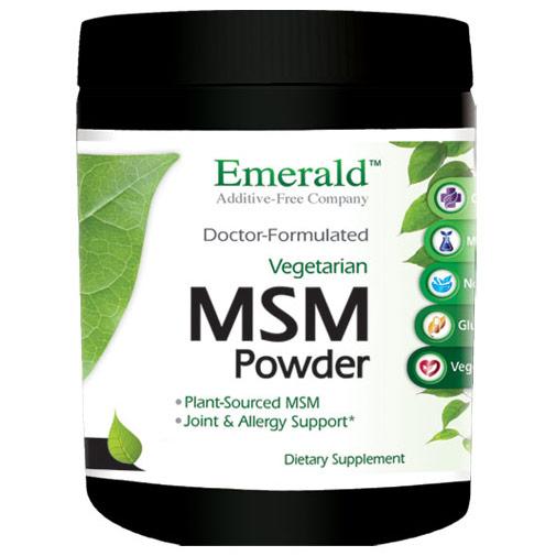 MSM Powder 4000 mg, 8 oz, Emerald Labs