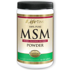 MSM Powder, 100% Pure, 16 oz, LifeTime