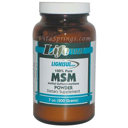 MSM 100% Pure Powder, 7 oz, LifeTime