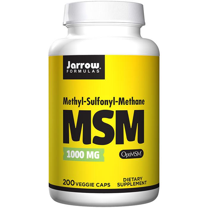 MSM Sulfur 1000 mg 200 capsules, Jarrow Formulas