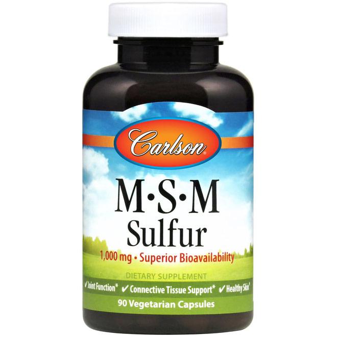 MSM Sulfur 900 mg, 180 Capsules, Carlson Labs
