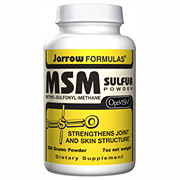 MSM Sulfur Powder 200 grams, 7 oz, Jarrow Formulas
