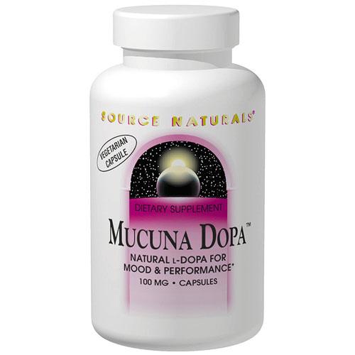 Mucuna Dopa 100mg, 120 Vegi Capsules, Source Naturals