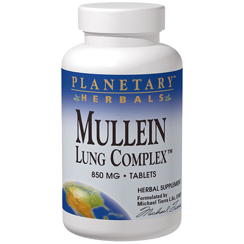 Mullein Lung Complex, Botanical Support, 90 Tabs, Planetary Herbals