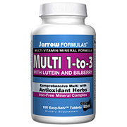 Multi 1 to 3, With Lutein & Bilberry, Iron Free, 100 Easy-Solv tabs, Jarrow Formulas