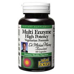 Multi Enzyme Vegetarian Formula 120 Capsules, Natural Factors