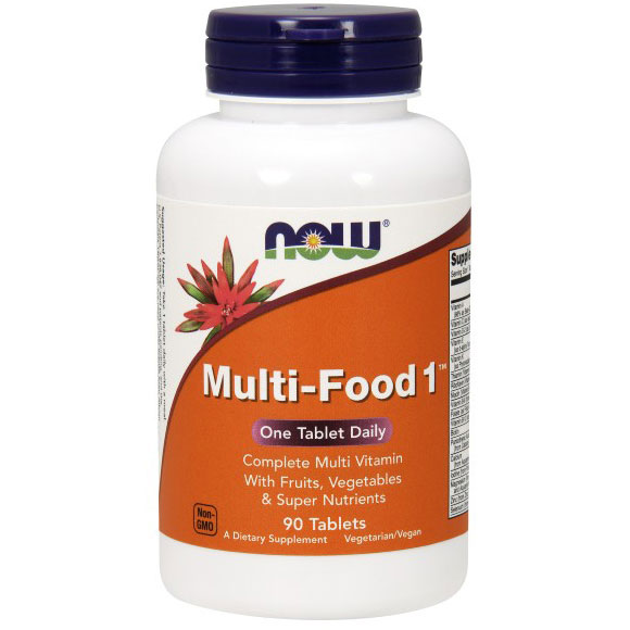 Multi-Food 1, Complete Multi Vitamin, 90 Tablets, NOW Foods