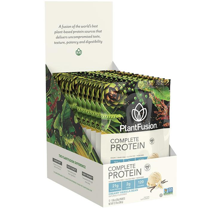 Multi Source Plant Protein, Vanilla Bean, 30 g x 12 Packets, PlantFusion