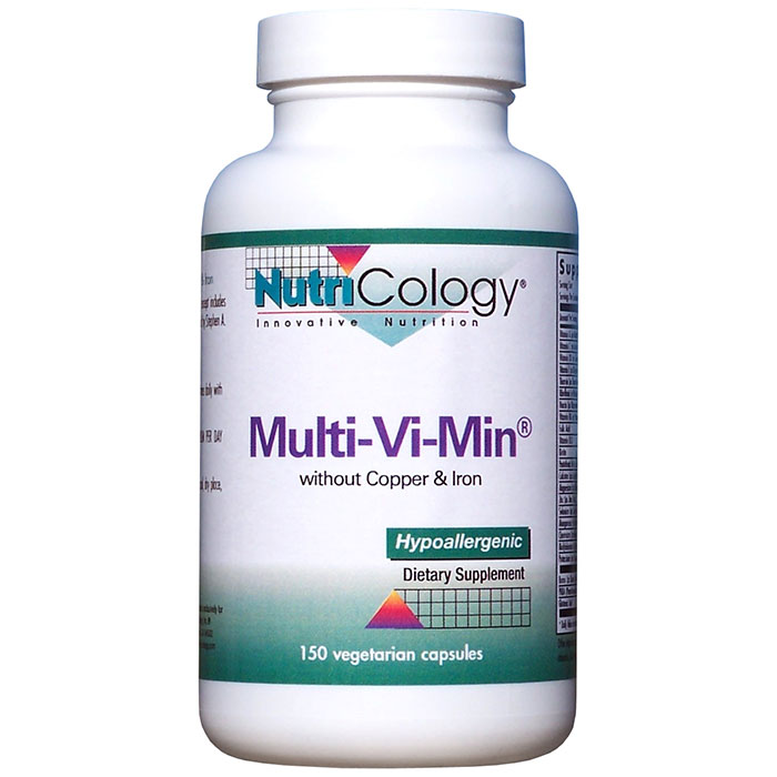 Multi-Vi-Min without Copper & Iron 150 caps from NutriCology