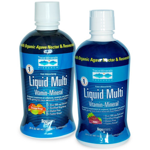 Liquid Multi Vita-Mineral, Berry Flavor, 30 oz, Trace Minerals Research