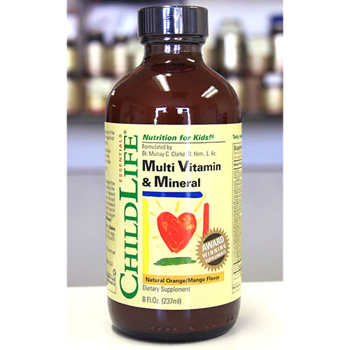 Multi Vitamin & Mineral Liquid Orange-Mango Flavor 8 fl oz from ChildLife