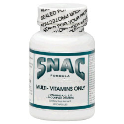 Multi-Vitamins Only, 60 Capsules, SNAC System