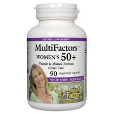 MultiFactors Womens 50+, 90 Veggie Caps, Natural Factors