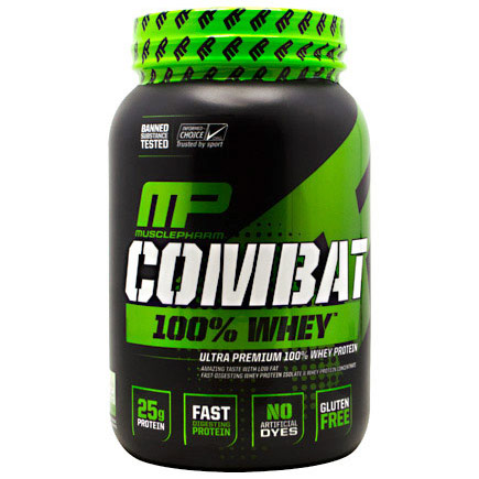 Combat 100% Whey Protein Powder, 2 lb, Muscle Pharm