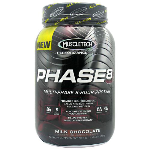 MuscleTech Phase 8, Multi-Phase 8-Hour Protein, 2 lb (22 Servings)