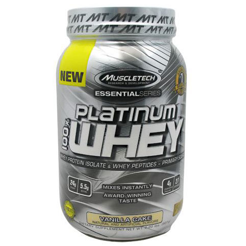 MuscleTech Platinum Whey, Isolate & Peptides, 2 lb