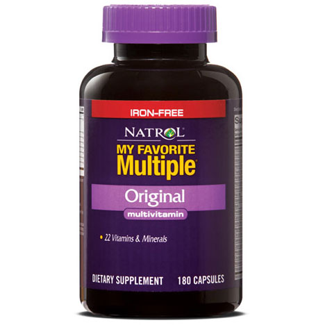 My Favorite Multiple Vitamins No Iron 180 caps from Natrol